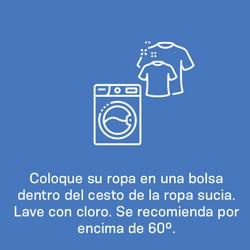 coloque su ropa dentro de una bolsa