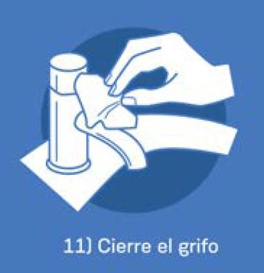 11 Cierre el grifo