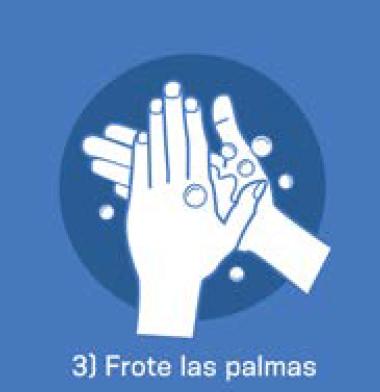 3 Frote las palmas